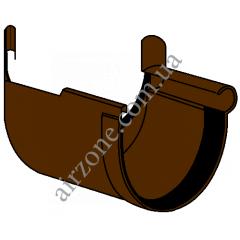 Угол внутренний 135° желоба 130мм, коричневый