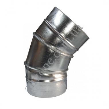 Коліно (відведення) 45° Ø100 з оцинкованої сталі