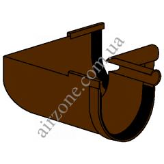 Угол внутренний 90° желоба 130мм, коричневый