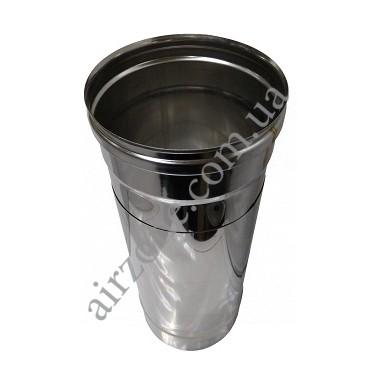 Труба-подовжувач з нержавіючої сталі 110мм, 0.3-0.5метра