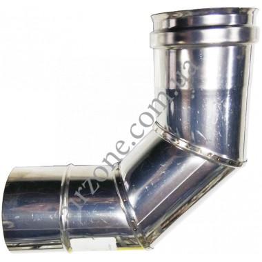 Відвід з нержавіючої сталі 80мм - 90⁰ (сталь 0,5мм)