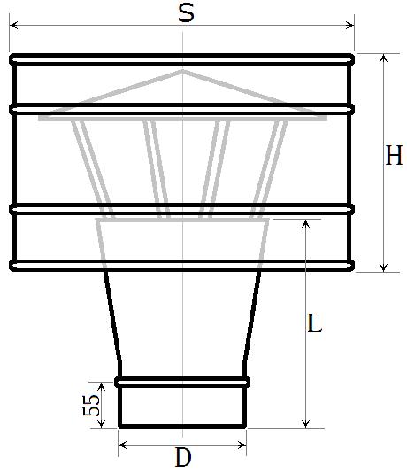 Розміри дефлектора нержавійка
