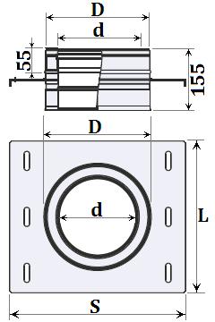 схема настінна розвантажувальна платформа