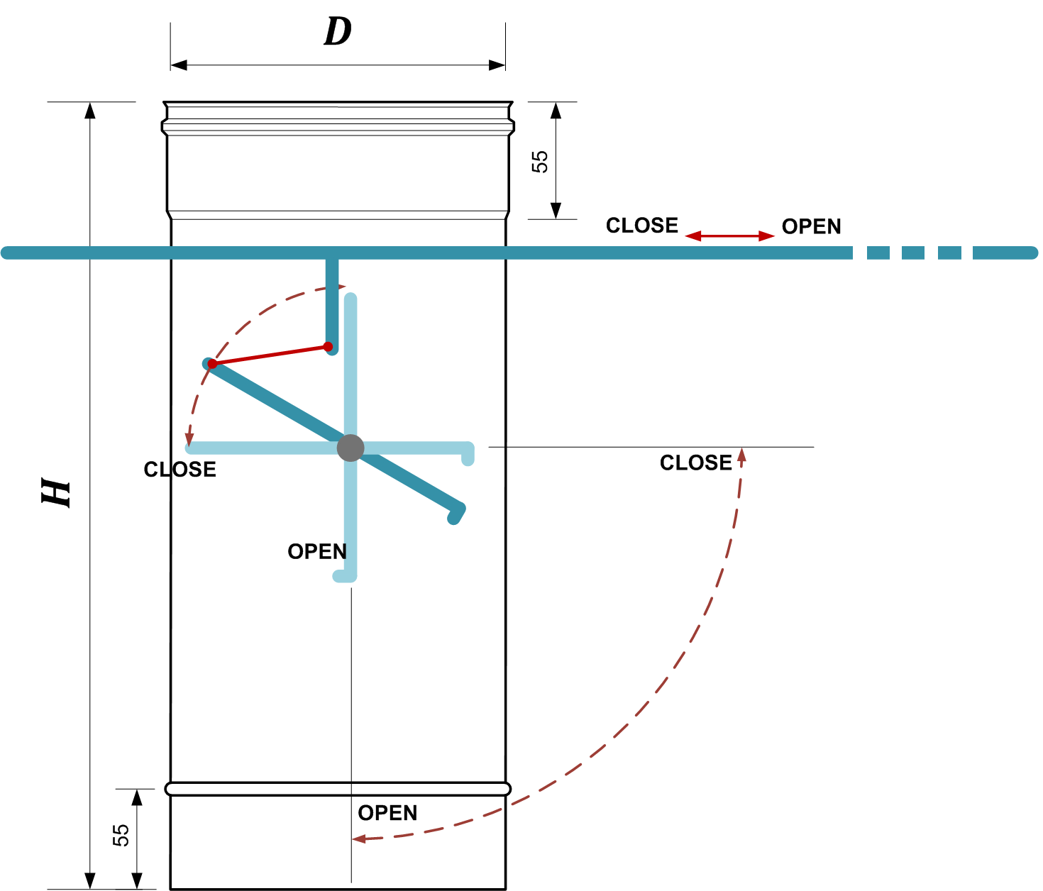 Схема регулятор тяги димаря вик 2