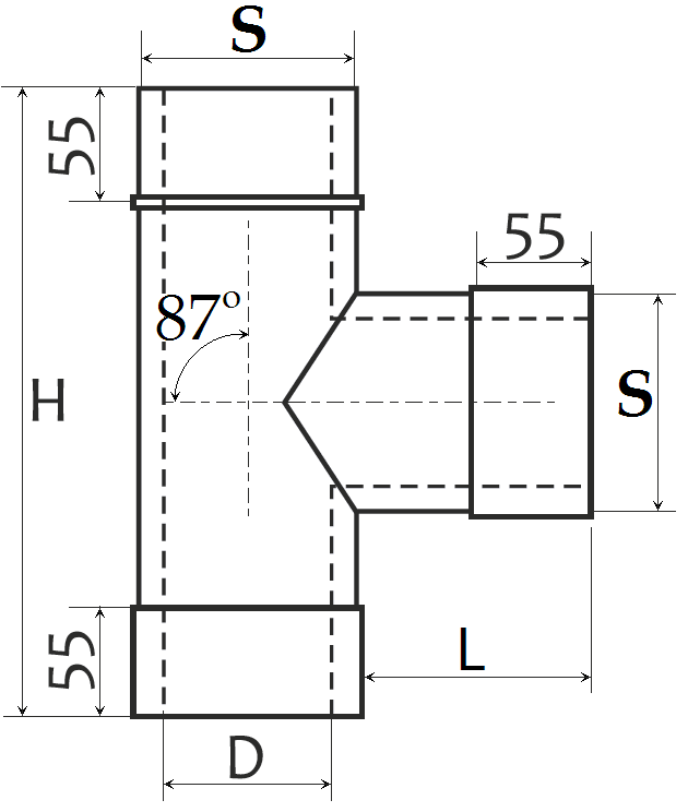 Розміри трійник сендвіч димохід