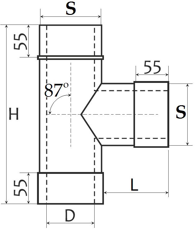Размеры тройник сэндвич дымоход