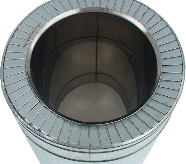 Верхня частинатрубита сегментнікільцядля блокуваннятермомосту іутворення ефектутермоса.