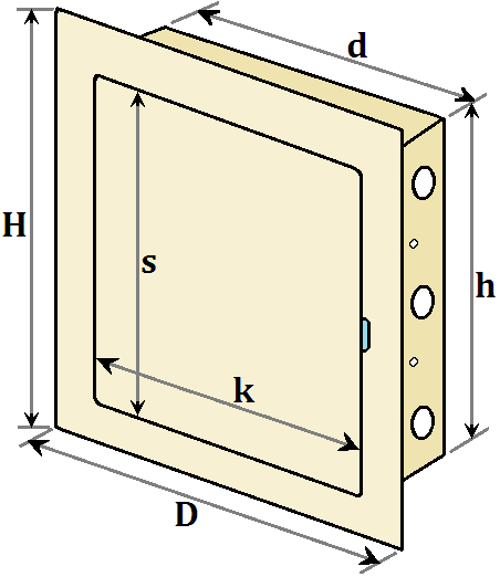 розміри дверки МініМакс