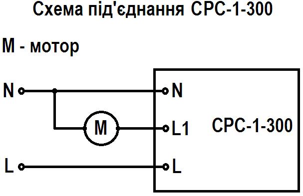 Схема під'єднання срс-1-300