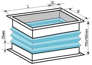 гнучка вставка 200×400, схема