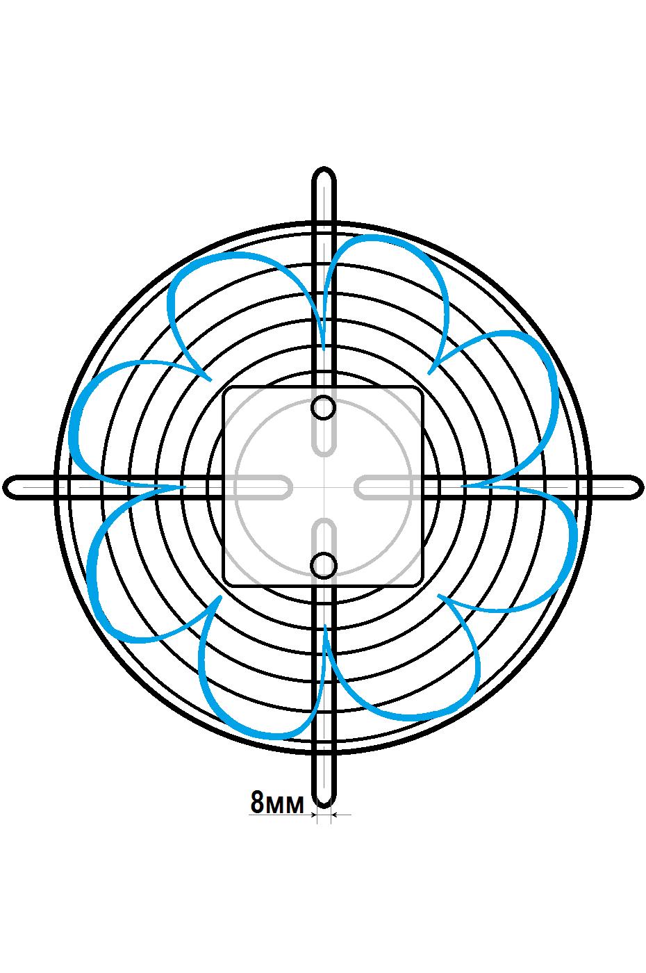 схема 2 флюгер ywf 2e 250 b