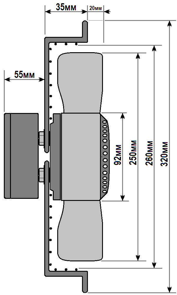 схема флюгер ywf 2e 250 b