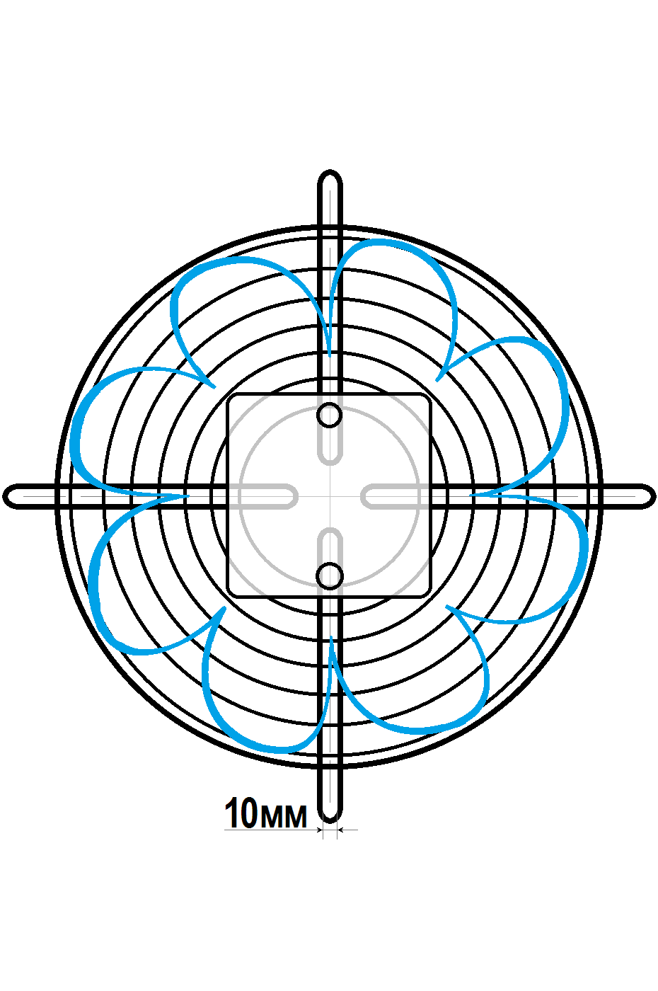схема 2 флюгер ywf 4e 400 b