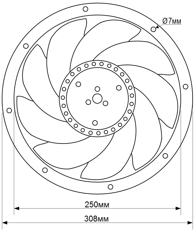 схема 3 флюгер ywf t 2e 250
