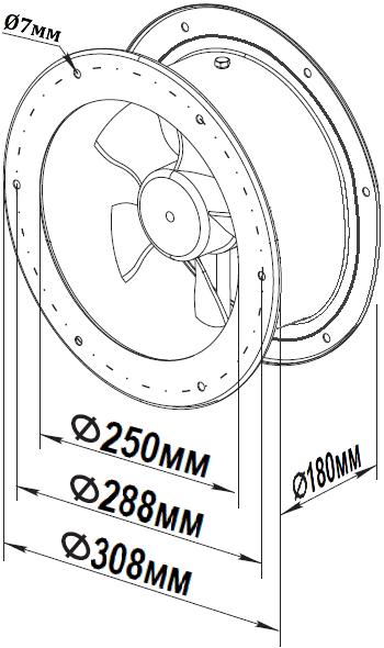 схема флюгер ywf t 2e 250