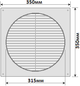 решітка Hardi 07700, розміри 2