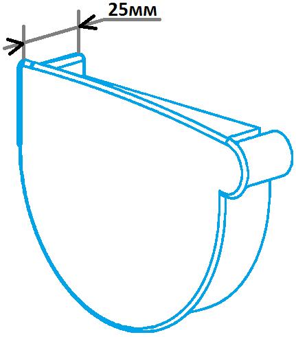Заглушка лійки 130мм ліва, розміри