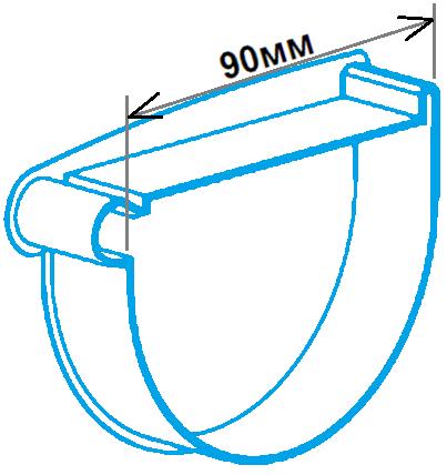 Заглушка лійки 90мм ліва, розміри