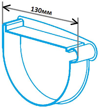 Заглушка лійки 130мм права, розміри