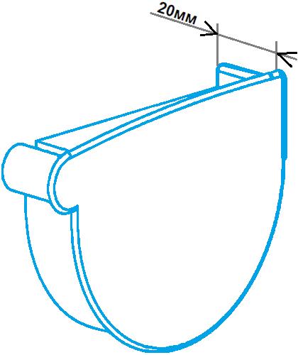 Заглушка лійки 90мм права, розміри